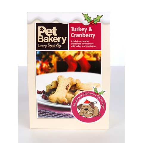 Pet Bakery Turkey And Cranberry Bones Shortbread Dog Treats 240g