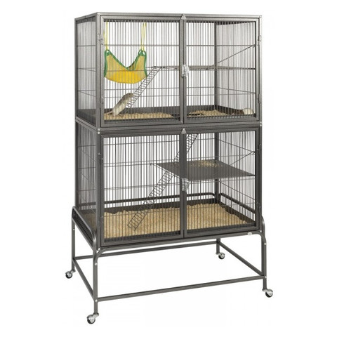 Liberta Explorer Double Small Animal Cage With Wheels
