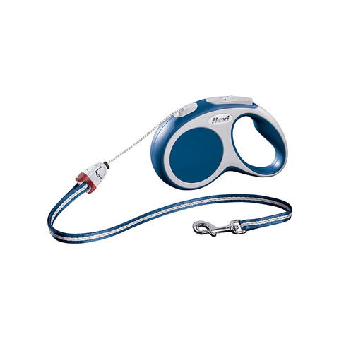 Flexi Vario Retractable Cord Dog Lead Blue - 5 Metres Small