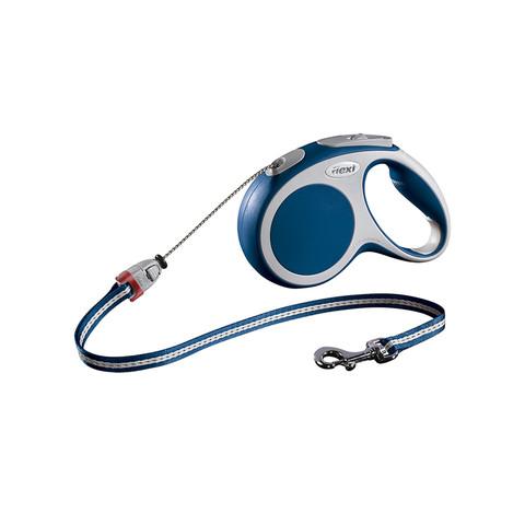 Flexi Vario Retractable Cord Dog Lead Blue - 5 Metres Medium