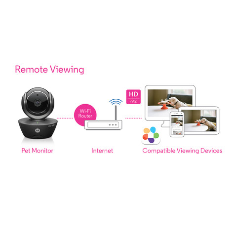 Motorola Scout 85 Wi-fi Hd Video Pet Monitor Home Security Camera