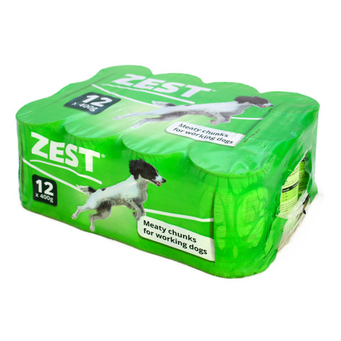 Zest For Working Dog Food Can 12 X 400g