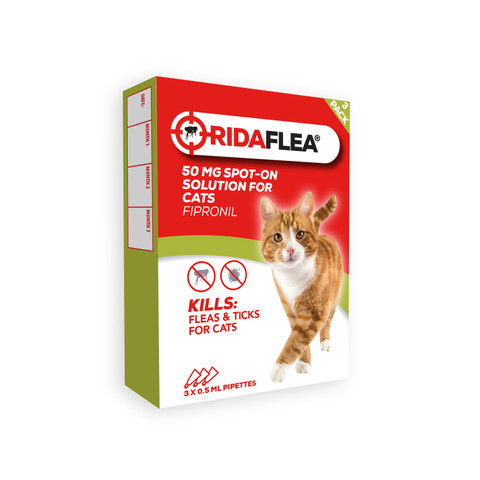 Ridaflea Spot-on Solution For Cats 50mg 3 Pipette