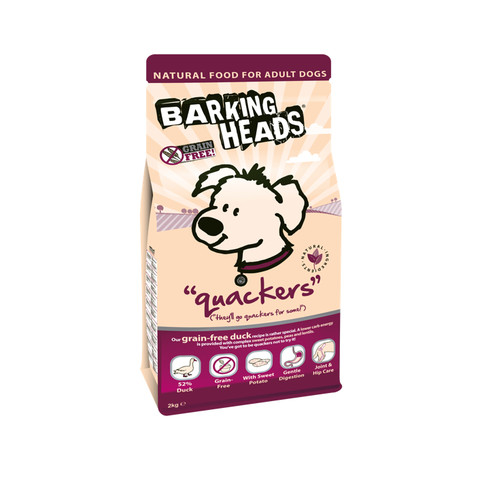 Barking Heads Quackers Grain Free Adult Dog Food 2kg
