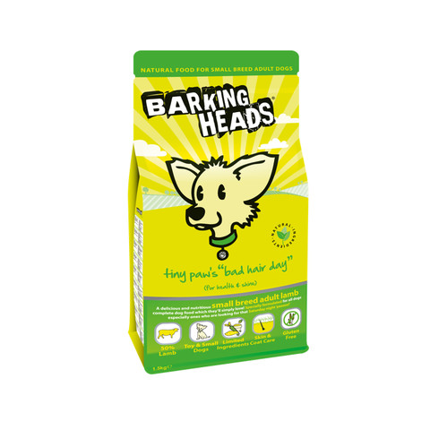 Barking Heads Tiny Paws Bad Hair Day Small Breed Adult Dog Food 1.5kg