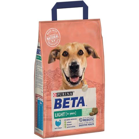 Beta Adult Light Dog Food With Turkey 2.5kg