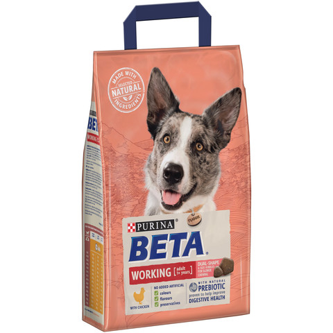 Beta Adult Working Dog Food With Chicken (formerly Beta Active) 2.5kg