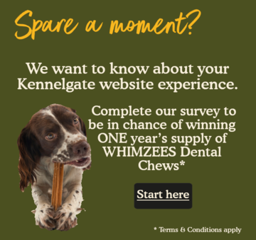 You tell us & get a chance to win a years supply of Whimzees Dental Chews