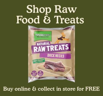 Raw food and treats.