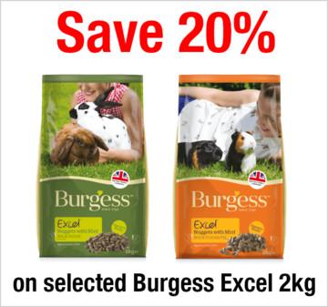 Save 20% on selected Burgess Excel 2kg