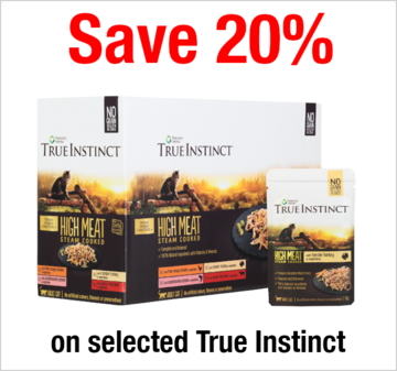 Save 20% on selected True Instinct