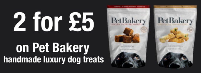 2 for £5 on Pet Bakery