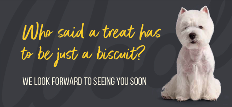 Who said a treat has to be a biscuit?