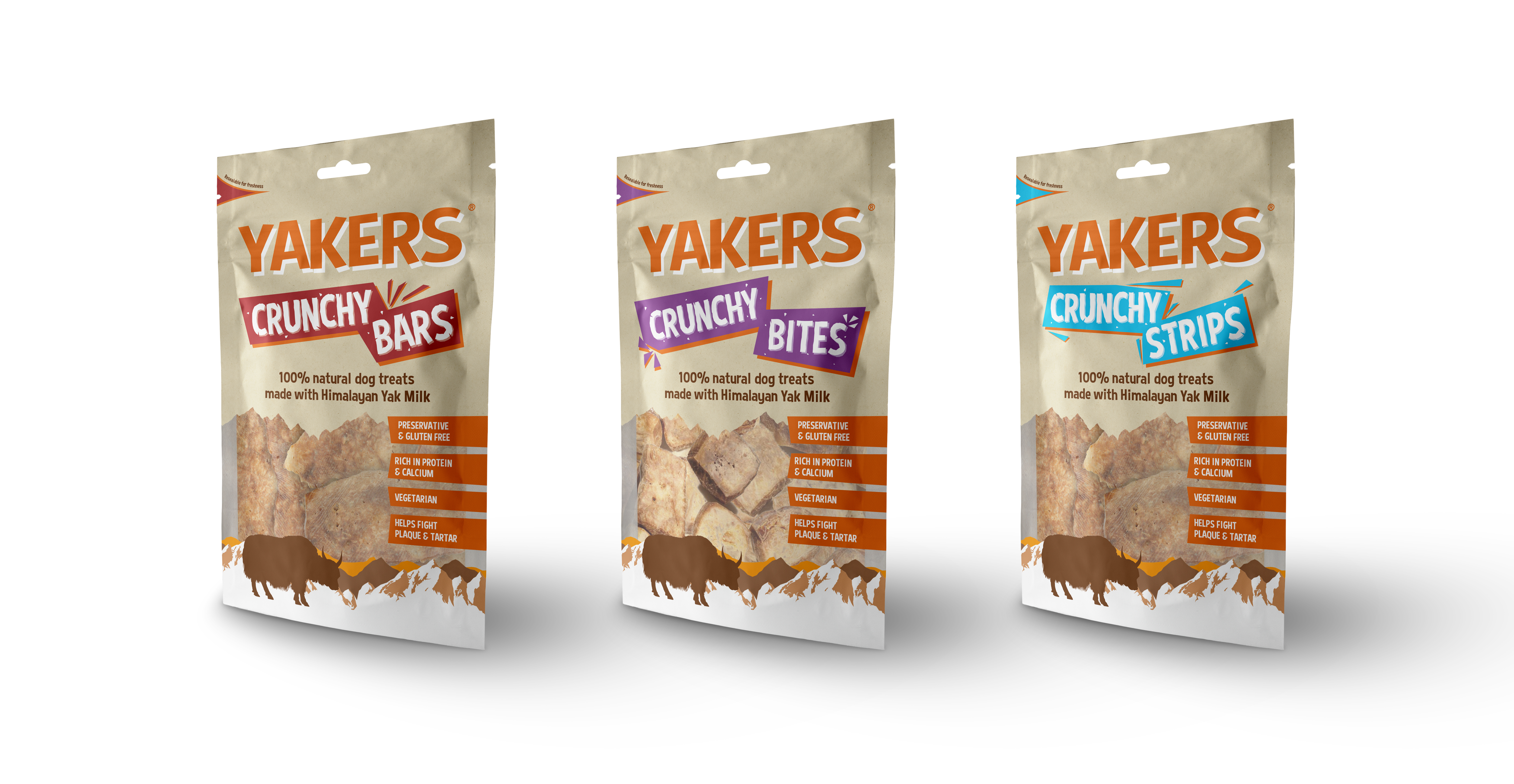 NEW IN YAKERS DOG TREAT RANGE