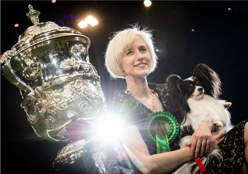 Wellness CORE fed Dylan the Villain & Kathleen Roosens win Best In Show at Crufts 2019