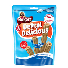 Bakers Dental Delicious Beef Sticks 6 X Medium