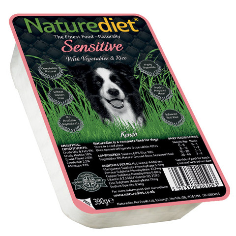 Naturediet Adult Sensitive Dog Food With Salmon, Vegetables And Rice 18 X 390g