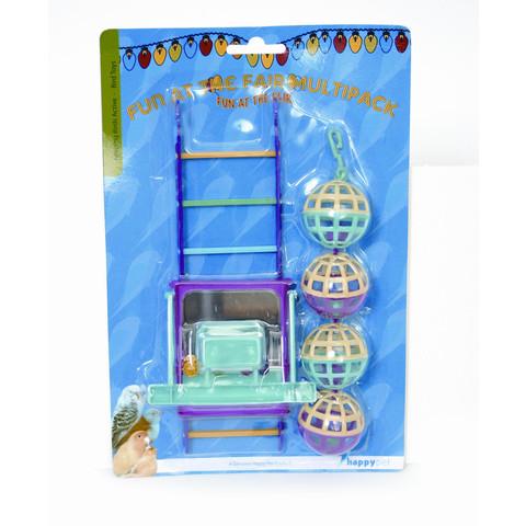 Happy Pet Fun At The Fair Ball Ladder Perch  To 6 X