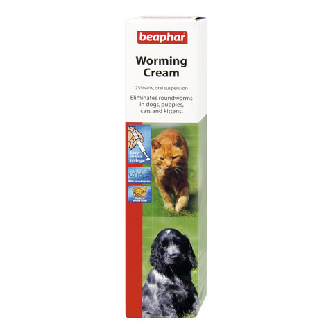 Beaphar Worming Cream For Cats & Dogs 18g To 6 X 18g