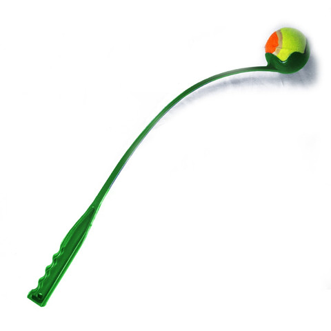 Happy Pet Fling And Fetch Ball Thrower Launcher Dog Toy