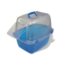 Van Ness Translucent Enclosed Cat Litter Tray Pan Large
