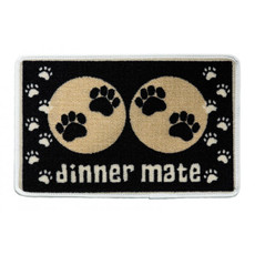Pet Rebellion Dinner Mate Non Slip Dog Dinner Mat In Black 40x60cm