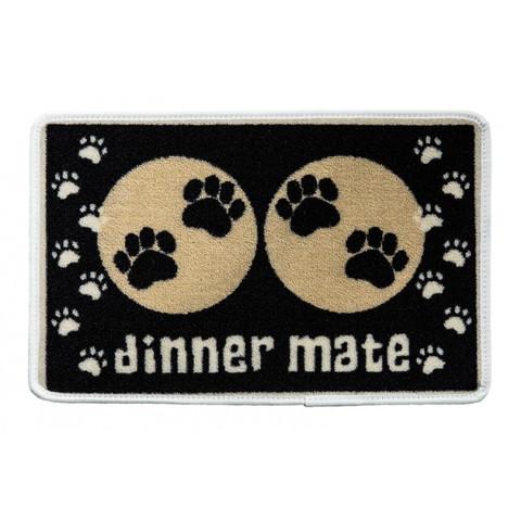 Pet Rebellion Dinner Mate Non Slip Dog Dinner Mat In Black 40x60cm