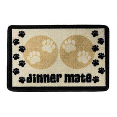 Pet Rebellion Dinner Mate Non Slip Dog Dinner Mat In Cream 40x60cm