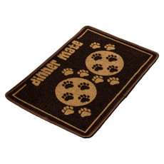 Pet Rebellion Dinner Mate Non Slip Dog Dinner Mat In Brown 40x60cm