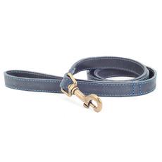 Ancol Heritage Timberwolf Leather Blue Dog Lead 100cm