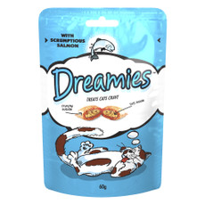 Dreamies Pouch Cat Treat With Scrumptious Salmon 60g To 8 X 60g
