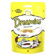Dreamies With Delicious Cheese Cat Treats 8 X 60g
