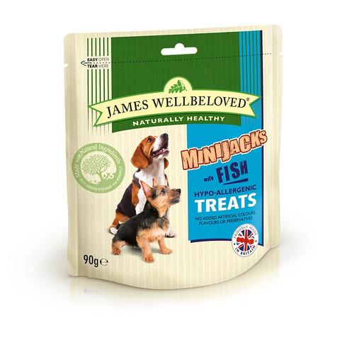 James Wellbeloved Fish And Rice Minijacks Dog Treats 90g