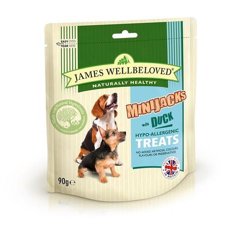 James Wellbeloved Duck And Rice Minijacks Dog Treats 10 X 90g