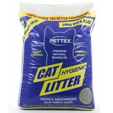 Pettex Premium Grey Clumping Cat Litter 20kg