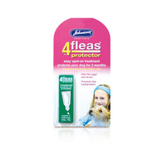 (d) Johnsons 4 Fleas Spot On Protector For Puppies And Small Dogs