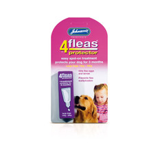 (d) Johnsons 4 Fleas Spot On Protector For Large Dogs