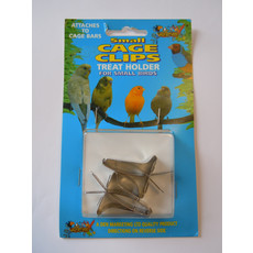 Lazy Bones Metal Cage Treat Clips 2 Pack