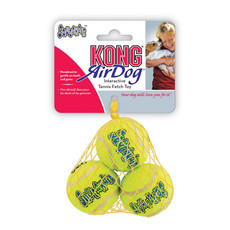 Kong Airdog Squeakers Tennis Ball Dog Toy Xs 3pk