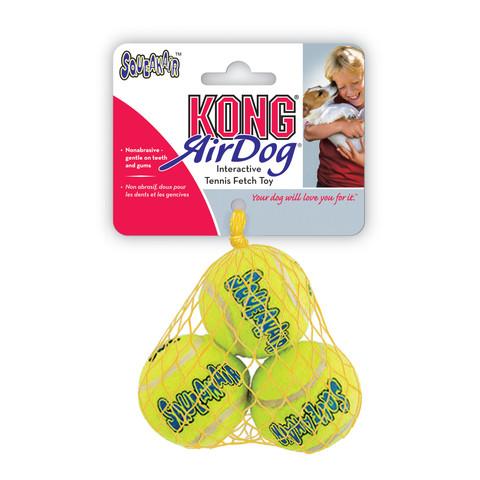 Kong Airdog Squeakers Tennis Ball Dog Toy Xs 3pk