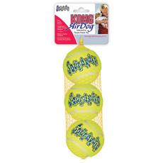 Kong Airdog Squeakers Tennis Ball Dog Toy 3pk