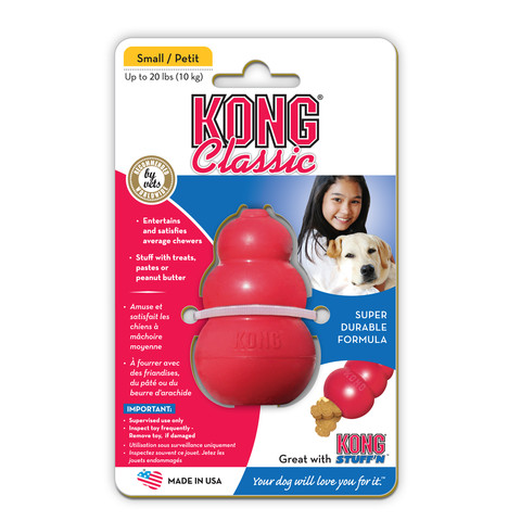 Kong Classic Red Dog Toy Small