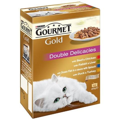Gourmet Gold Double Delicacies 12x85g