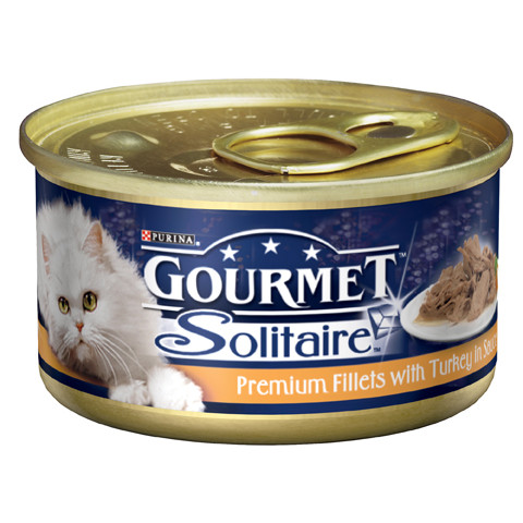 Gourmet Solitaire Cat Food With Turkey Fillets 12 X 85g