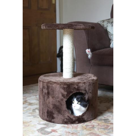 Ancol Acticat Cat Hide Out & Scratch Post