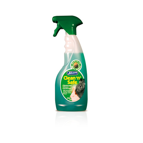 Johnsons Clean And Safe Cleaning Spray For Small Animals 500ml