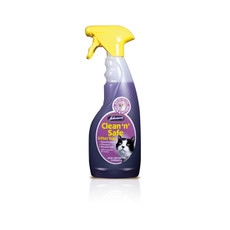 Johnsons Clean And Safe Cat Litter Tray Disinfectant Cleaner Spray 500ml To 6 X 500ml