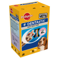 Pedigree Dentastix Daily Oral Care Dental Chews Medium Dog 10-25kg 4 X 28 Stick
