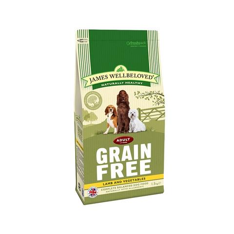 James Wellbeloved Grain Free Lamb And Vegetable Adult Dog Food 1.5kg To 2 X 10kg