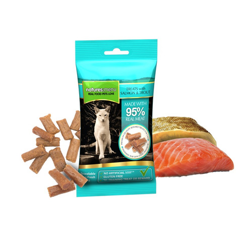 Natures Menu Cat Treat With Salmon And Trout 60g To 12 X 60g